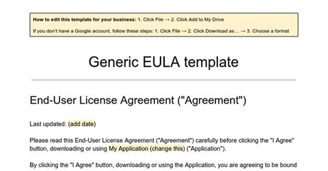 end user license agreement template best eula template gallery resume ideas namanasa