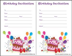 printable birthday invitations foldable invitations party cards