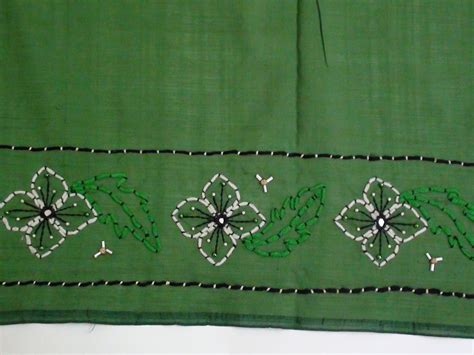 how to do couching saree border with couching stitch youtube