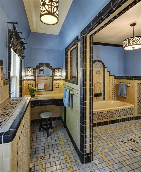 mediterranean style bathrooms trendy twist to a timeless color scheme bathrooms in blue