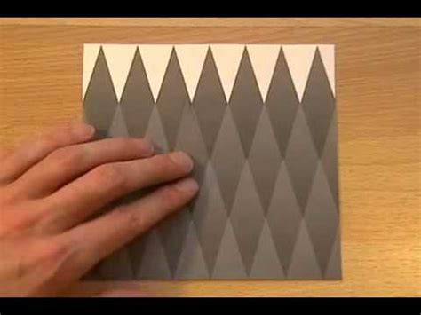 How To Make A Paper Illusion - optical illusion paper diamonds are different colors or