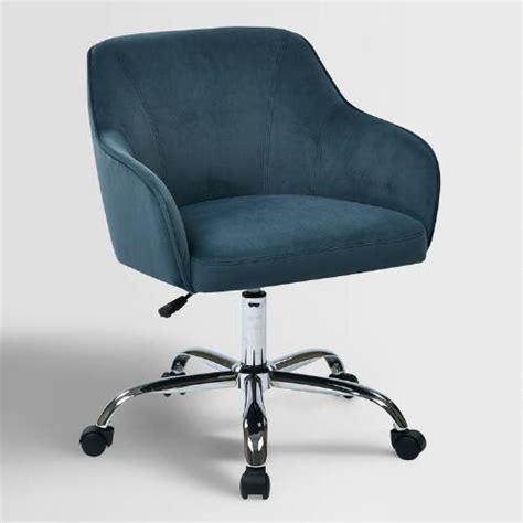blue velvet jozy home office chair world market