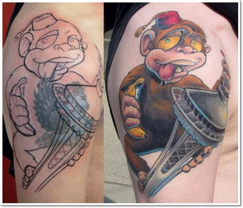 crazy monkey tattoos 30 cool and monkey designs
