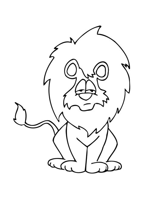 imagenes leones marinos para colorear 108 dibujos de leones para colorear oh kids page 10