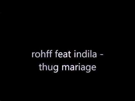 Rohff thug marriage remix mini