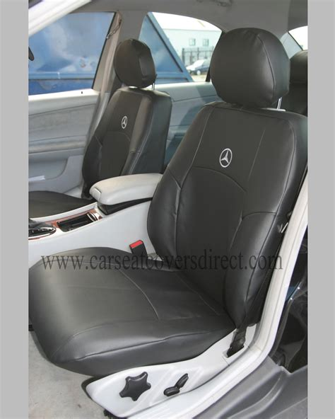 mercedes seat covers mercedes c class w203 black leatherette seat covers