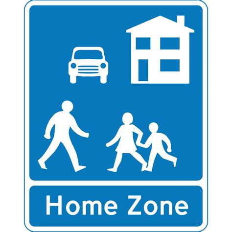 home zone blue sign at vectorportal