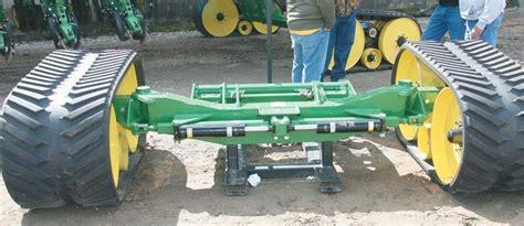 gramlow tacks rubber tracks and gps onto planter the