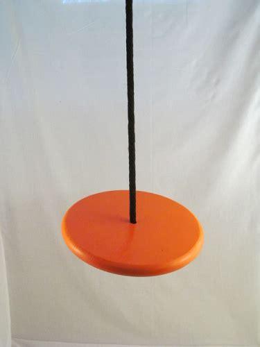 orange swing orange wood disc swing