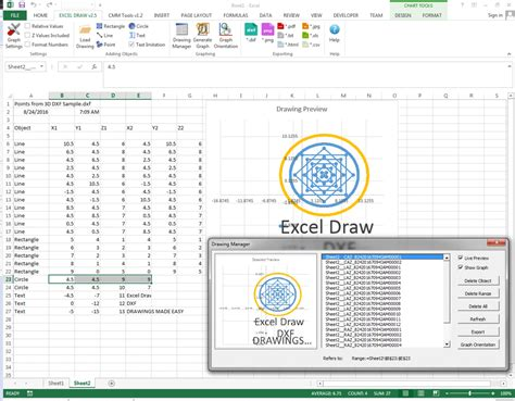 how to draw doodle using excel excel draw create and draw dxf files inside excel