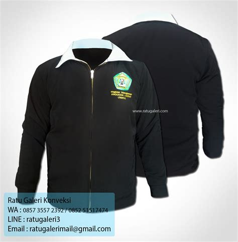 Jaket Kerah hasil produksi dan desain jaket hightwist universitas mulawarmankonveksi surabaya kaos seragam