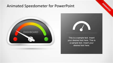 animated dashboard speedometer template for powerpoint