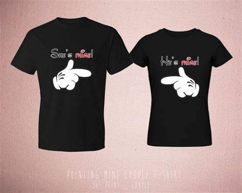 Matching T Shirts For Couples Disney Matching T Shirts Couples Pointing