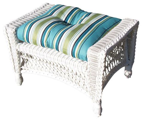 wicker footstools ottomans outdoor wicker ottoman cape cod style traditional