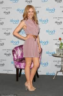 Worn Leather Armchair Kylie Minogue Dons Short Pastel Dress In Berlin Daily