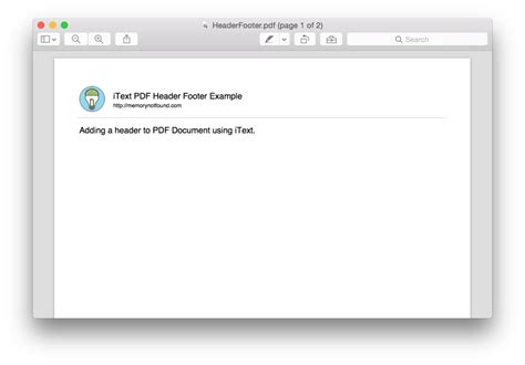 tutorial java itext adding header and footer in pdf using itext in java