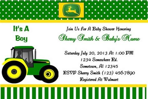 Free Printable Deere Baby Shower Invitations by Unavailable Listing On Etsy
