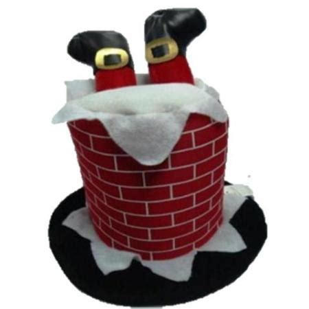 Chimney Hat With Santa - musical chimney hat with legs decoration