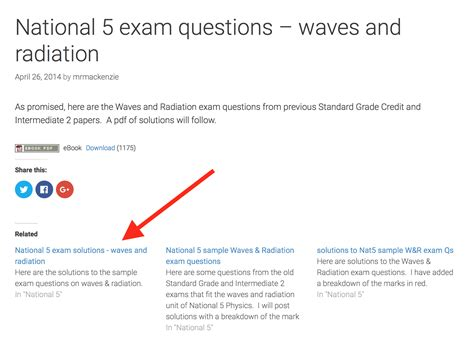 national 5 physics practice 0007504748 national 5 exam questions waves and radiation fizzics