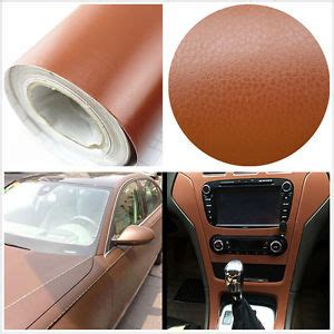 3d brown leather texture sheet car auto interior trim
