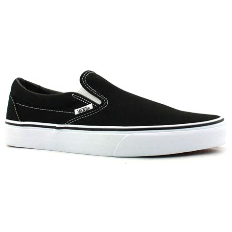 vans slip on womens canvas black white trainers new shoes