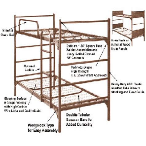 Institutional Bunk Beds Institutional Bunk Bed Demountable Metal Bunk Bed 4000 Abm Elitedecore