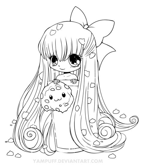 chibi cookie line art by yampuff on deviantart