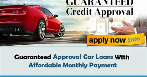 guaranteed car loan approval bad guaranteed approval auto loans is possible without co