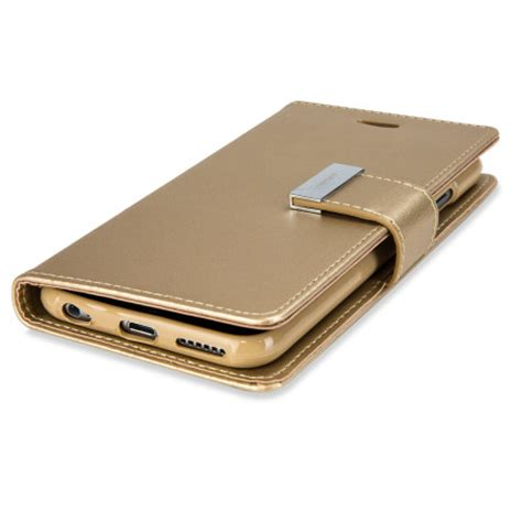 Walet Premium Gold Walet Gold mercury rich diary iphone 6s plus 6 plus wallet gold