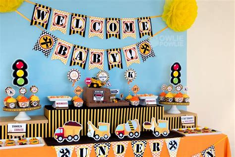 Construction Baby Shower Ideas by Baby Construction Baby Shower Baby Shower Ideas