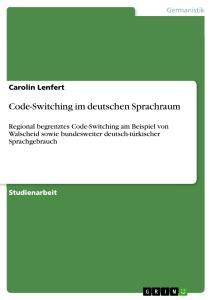 Code-Switching im deutschen Sprachraum | Self-Publishing ... 1_201505 Pdf