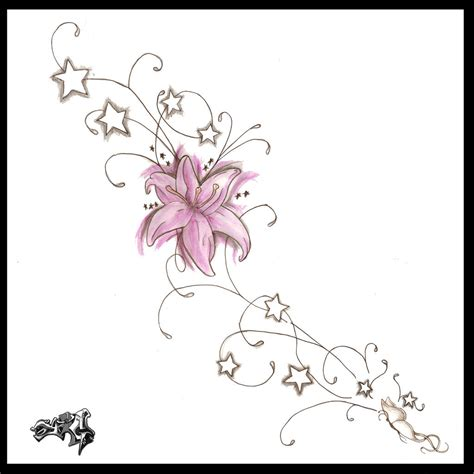 side tattoo design flower tattoos side design flower