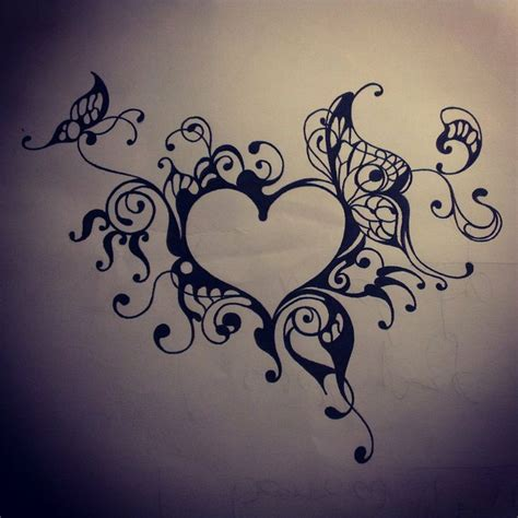 pretty heart tattoo designs pics for gt tattoos on hip