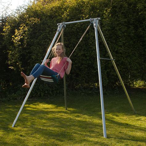 a swing single swing set