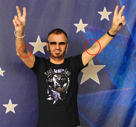 surprise ringo starr has two tattoos on his arms i