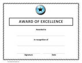 excellence award certificate template sports excellence award certificate template sle word