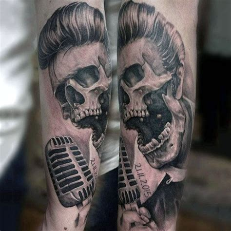 microphone skull tattoo 90 microphone tattoo designs for men manly vocal ink