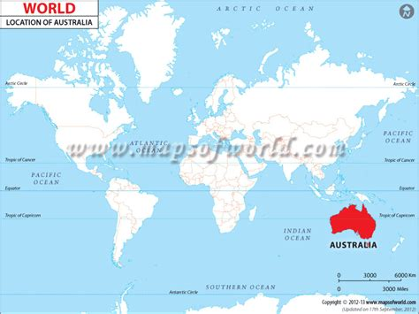 Australia Map Of The World by Where Is Australia Australia Location In The World Map