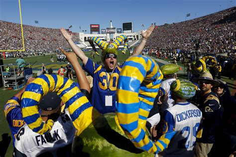 loud fans for after 22 years rams fans are loud and proud la times