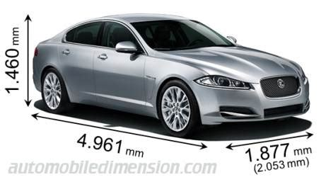 length of jaguar xf dimensions of jaguar cars showing length width and height