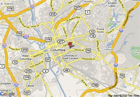 map of columbia south carolina map of inn at claussens columbia
