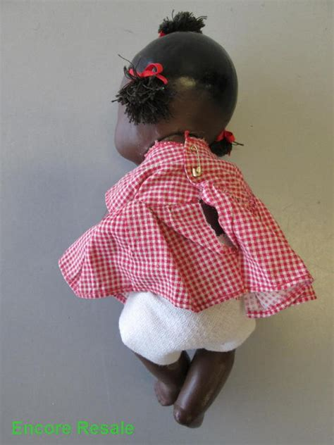 composition topsy doll vintage topsy composition doll black w book topsy turvy