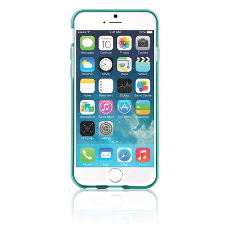 naztech tpu jelly cover for iphone 6 6s teal