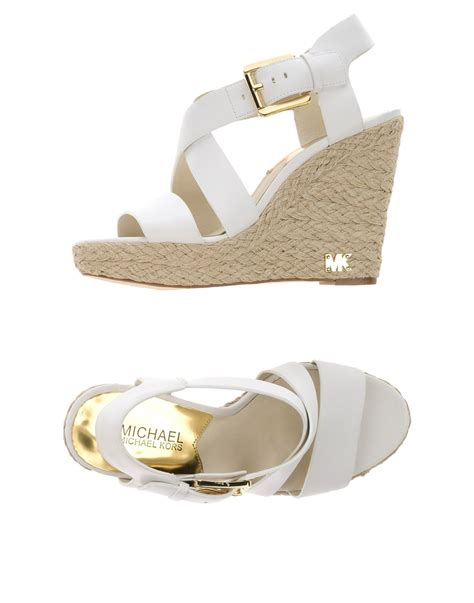michael michael kors sandals in white lyst