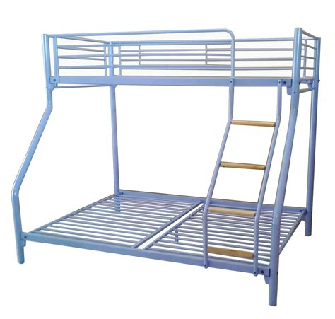 Metal Bunk Bed Ladder Foxhunter Purple Kid Sleeper Bunk Bed Metal Frame No Mattress Wood Ladder Ebay
