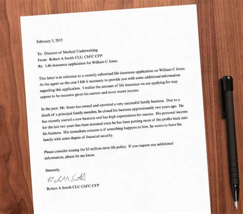 Support Letter For Client underwriter insurance cover letter