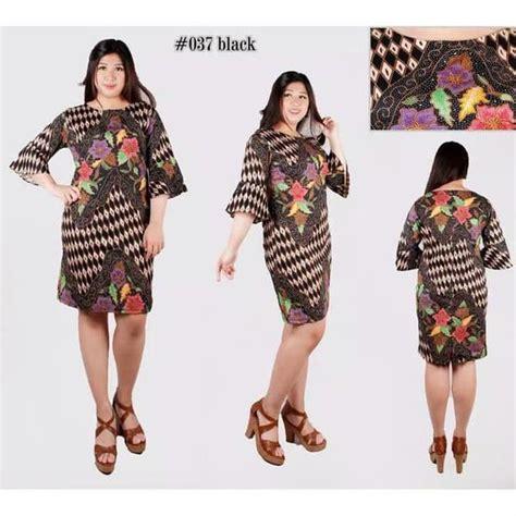 jual dress batik modern  jumbo xl big size  seller