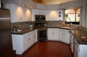 install of concrete countertops kitchen remodel