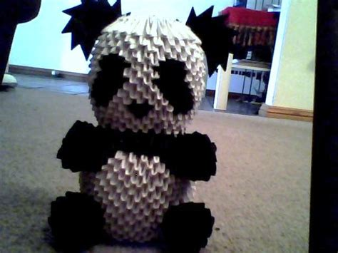 how to make a 3d origami panda 3d origami panda by onelonetree on deviantart