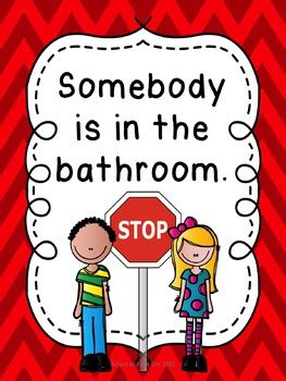 bathroom signs for classroom classroom bathroom signs stop go 12 options by
